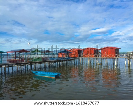 Local recreation and recreation center.  Famous Bambangan Village developed by the villagers itself is a tourist attraction, Sabah.  Malaysia