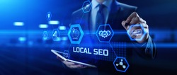 Local Seo Digital marketing and internet advertising concept.