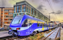 Local train at Munich Main Station - Germany