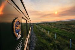 Local trans-siberian train from Mongolia to Ulan-Ude, The Republic of Buryatia