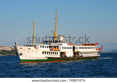 Local transport ship for person, in Istanbul city (capital of Turkey)