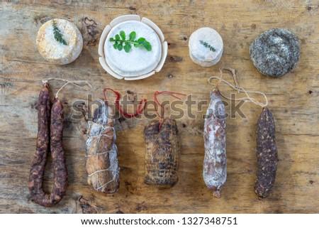 Local wild pork delicatessen, and corsican cheese,
