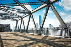 Located in Shanghai, one hundred years ago, the steel bridge
