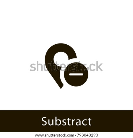 location icon. substract location. sign design
