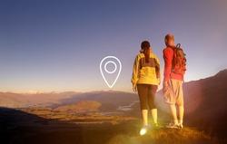 Location Navigation Destination Journey Position Concept