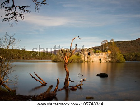 Loch an Eilean castle - Long exposure version, Aviemore, Scotland
