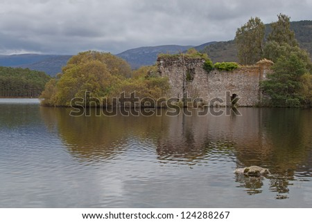 Loch an Eilean Castle, Scotland.