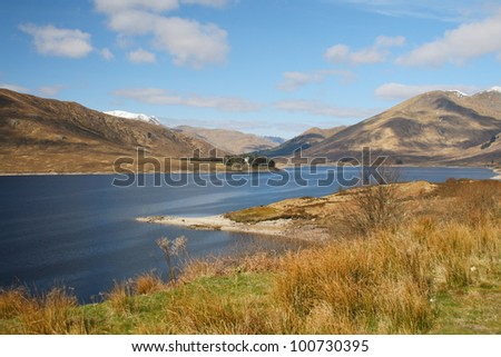 Loch Cluanie in the northwest Highlands of Scotland
