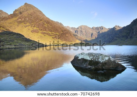Loch Coruisk, below the Cuilin mountains on the isle of skye in Scotland.