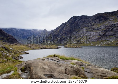 Loch Coruisk, in the Cuillin Mountains. Isle of Skye, Scotland.