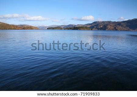 Loch Morar, in the northwest highlands of Scotland.