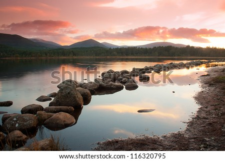 Loch Morlich at sunset