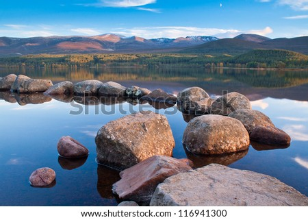 Loch Morlich in the Cairngorm National Park, Highlands of Scotland