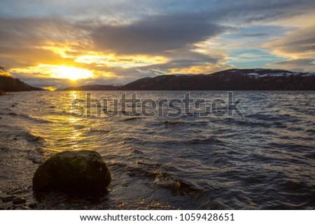 Loch ness sunset #1059428651