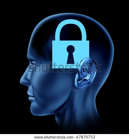 lock closed locked secrets mystery symbol Brain mind head idea intelligence
