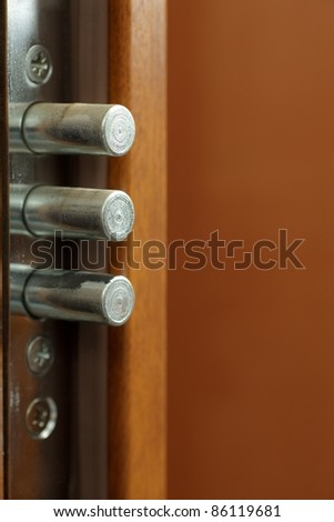 Lock - Detail of modern office door background