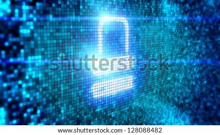Lock icon digital style