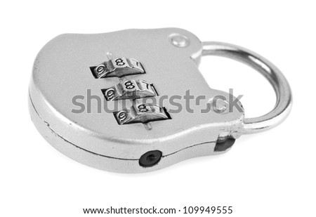 lock on a white background