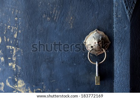 Lock on the door of Buddhist temple / Lock on the door