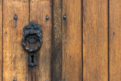 Lock on the old church door