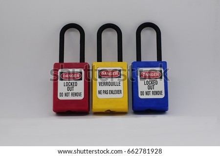 Lock out & Tag out,Lock out station , machine - specific lockout device and lockout point #662781928