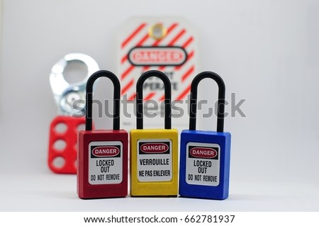 Lock out & Tag out,Lock out station , machine - specific lockout device and lockout point #662781937