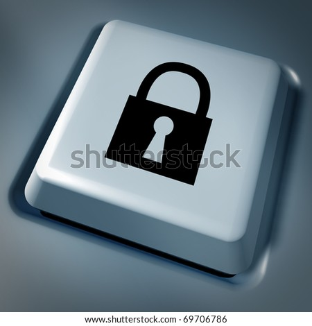 lock security save back up computer key keyboard technology business symbol press button select selection