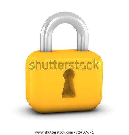 Lock sign on a white background. Part of a series.