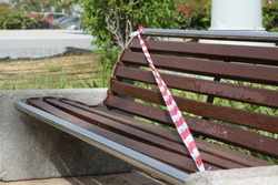 lockdown public parks in abu dhabi due to coronavirus, to protect the people from infection.