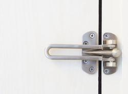 locked doors in hotel.
