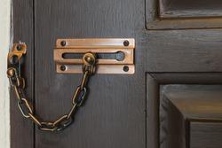 Locked doors. Old door latch