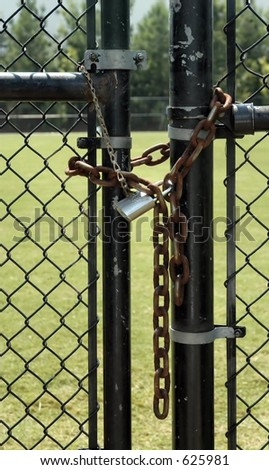 Locked Fence Gate