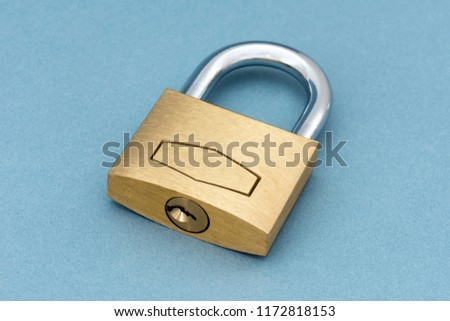 Locked Padlock on a blue background. #1172818153