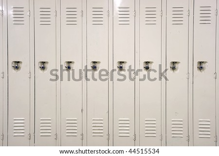 Lockers in a school