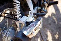 Locking a motorbike in a public place will reduce the loss