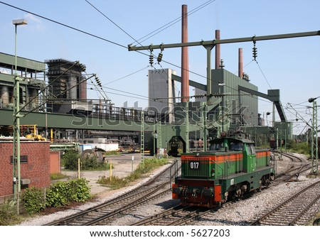Locomotive shunting at a coking plant