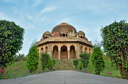 Lodi Gardens - architectural works of the 15th century Sayyid and Lodhis, New Delhi India.