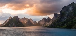 Lofoten Evening Atmosphere, Moskenes, Reine, Norway