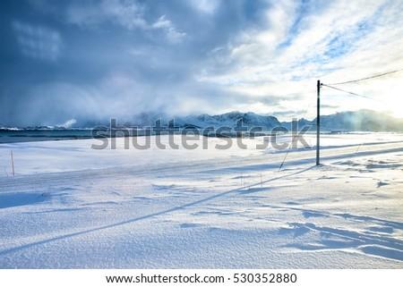 Lofoten road Photo stock ©