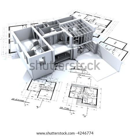 Cool 70 Architecture Blueprints 3D Design Ideas Of 3D Blueprint