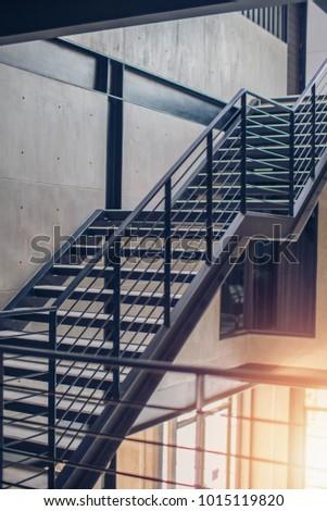 Loft Style Interior : Iron Staircase