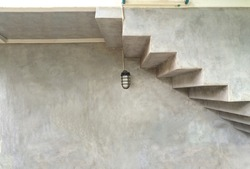 Loft style of house exterior under modern stair level architect.Mobile photography