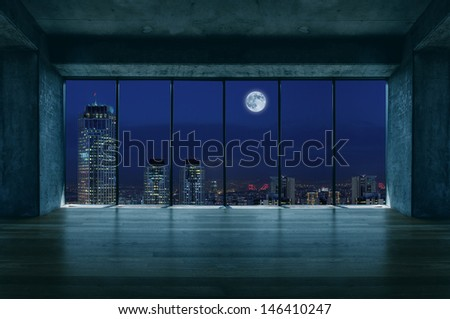Lofty house with moon view #146410247