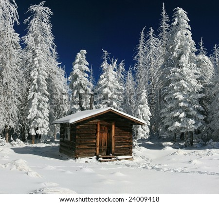 Log Cabin - Arizona Winter
