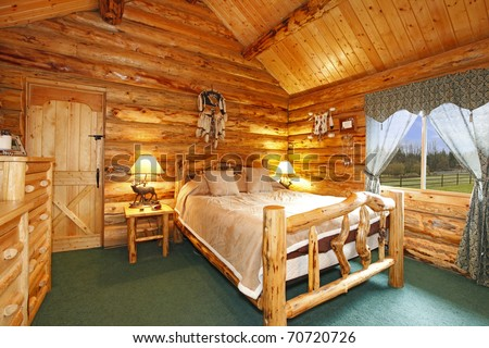 Cabin Bedrooms Photos Log Cabin Bedroom With Rustic