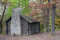 Log Cabin in the beginning of autumn