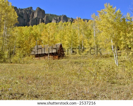 Log cabin in the Colorado Rockies