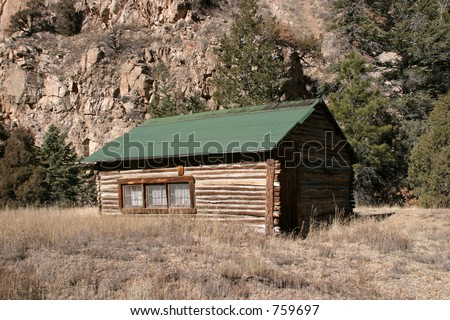 Log Cabin in the mountians of new mexico