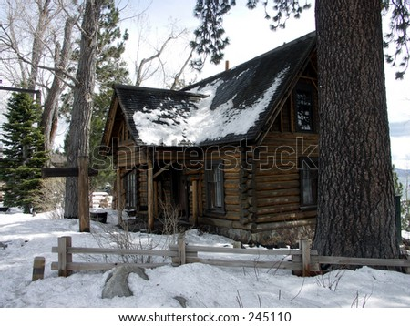 Snow Cabin Pictures Log Cabin in The Snow