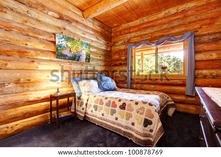 log cabin bedroom curtains 2